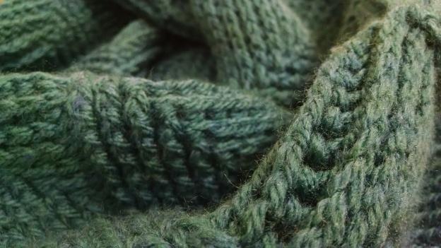Turquoise Crochet cowl