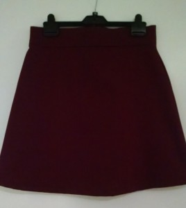 Delphine skirt in burgundy cotton drill