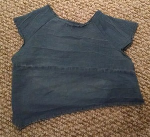 finished top made from old jeans