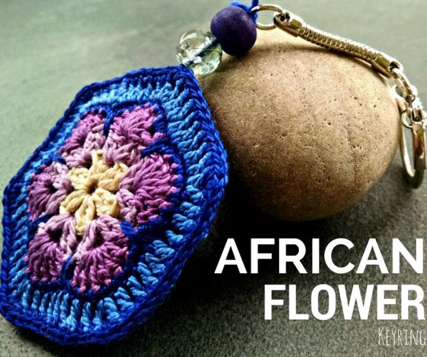 African Flower Keyring