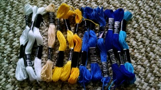 Embroidery floss for necklace