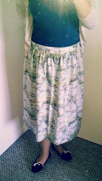 Waterfall skirt using Clemence pattern