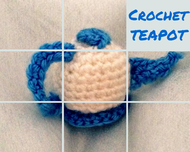 Crochet teapot - Framed image with added text