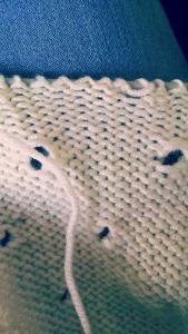 Mistake in shawl