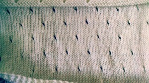 shawl knitting WIP detail