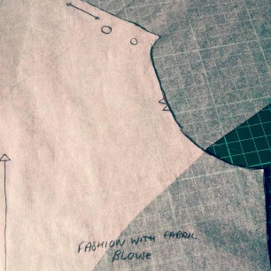 Fashion with fabric blouse pattern