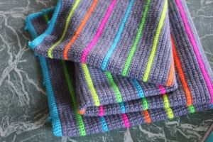 neon stripe blanket
