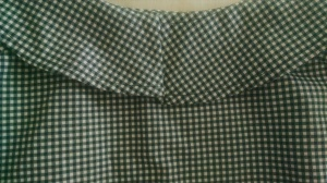 Step in the back of the collar on my gingham blouse
