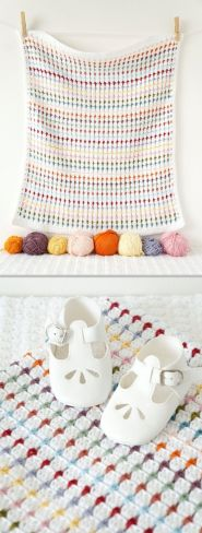Baby Blanket Crochet Pattern Annie PDF Instant Download Cot Pram Sensory