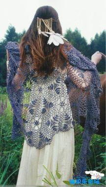delicate lace shawl