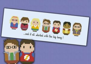 Cross Stitch big bang theory