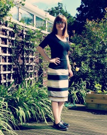 pencil skirt casual front