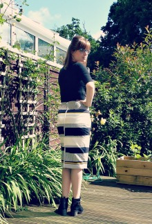 pencil skirt dressy back