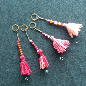 tassel keyrings listed for sale on http://hshandcrafts.etsy.com