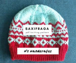 Saxifraga hat pattern listed for sale on http://hshandcrafts.etsy.com