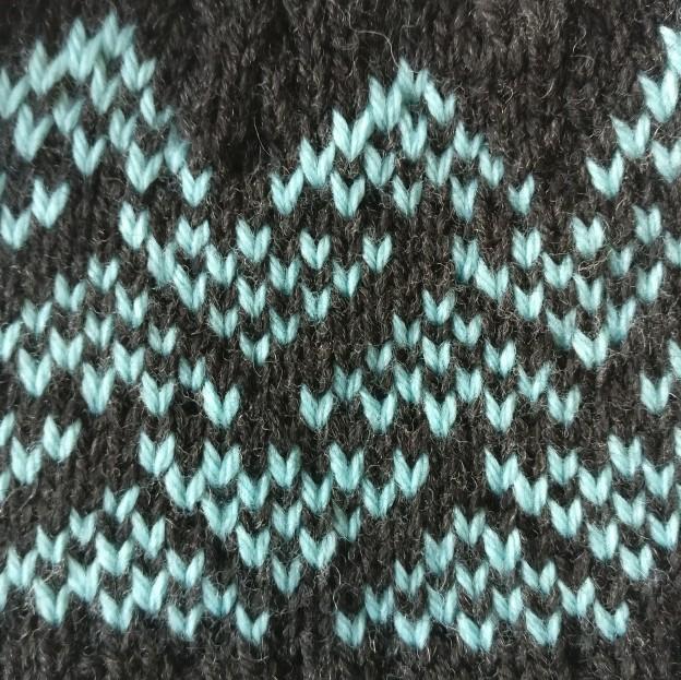 Veronica hat by hshandcrafts geometric colourwork motif