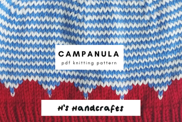 Campanula Hat Knitting Pattern from HsHandcrafts