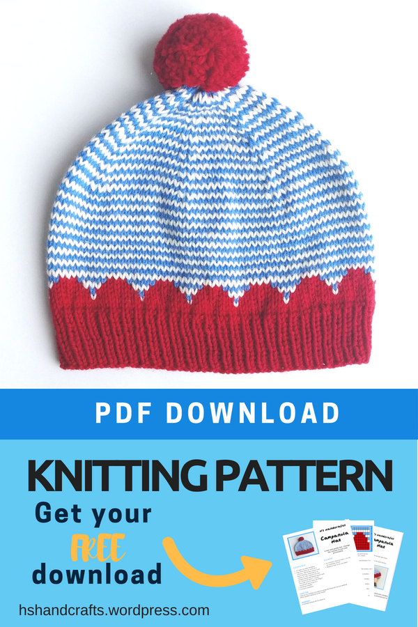 Free download - Campanula Hat Knitting Pattern from HsHandcrafts