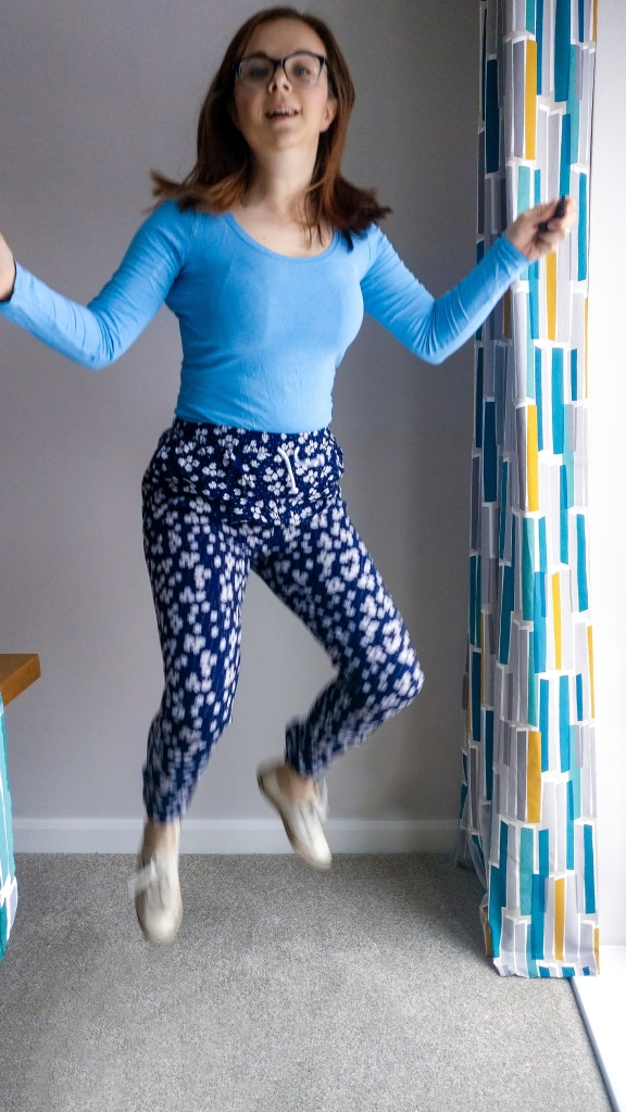 Jumping for Joy at Trousers that actually fit!