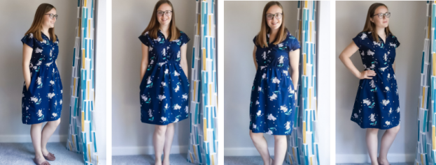 Sewing a Penny dress with Lisa Comfort's cotton lawn