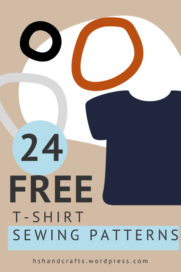 Free t-shirt sewing patterns. A round up by HsHandcrafts