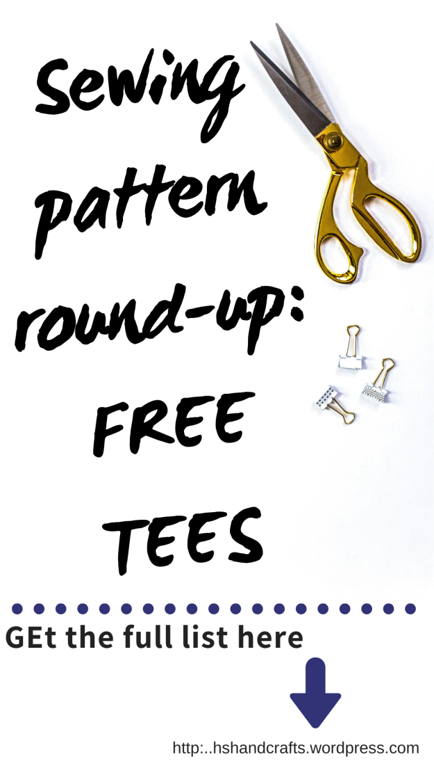 Sewing Pattern roundup: FREE TEES. Get the full list on the HsHandcrafts blog