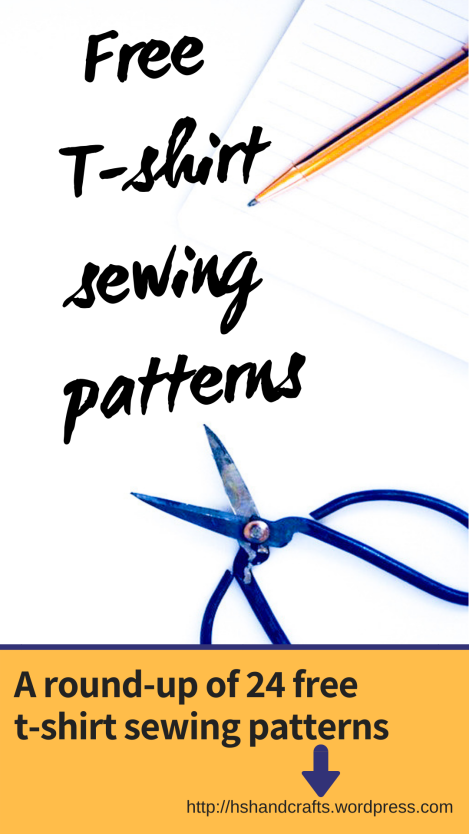 Free T-shirt sewing patterns. A round-up of 24 free t-shirt sewing patterns