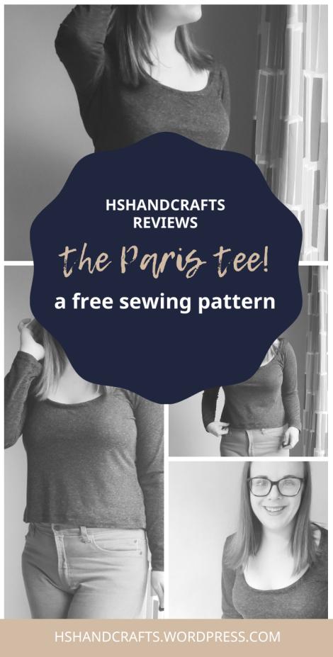 Paris tee free sewing pattern review