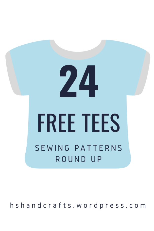 24 free tees Sewing patteerns round up by hshandcrafts