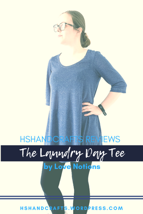 Laundry Day tee - Love Notions.  Free sewing pattern review