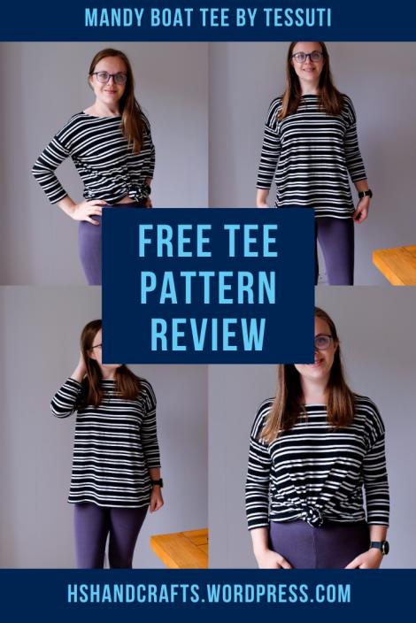 Mandy Boat tee - Tessuti. Free sewing pattern review
